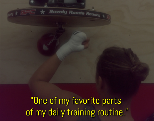 Ronda Rousey First Rate Boxing Speed Bag Platform produce testimonial